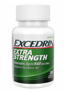 Excedrin Extra Strength Pain Relief 300 Caplets - Headache Relief EXP 08/2022