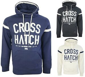 Crosshatch Mens Hoodie Pullover Hooded Casual Designer Jersey Sweatshirts Small