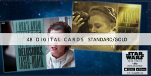 Topps Star Wars Card Trader Quotable Leia Organa Standard/Gold 48 CARDS