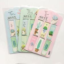 6pcs/Set  Plants Cactus Magnetic Bookmark Page Marker School Office Paper Clip