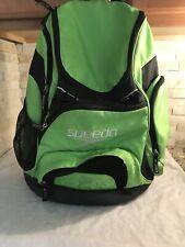 Speedo Teamster 35 L Fluorescent Green Black Swim Backpack Bag Pre-owned