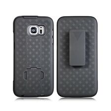 SAMSUNG GALAXY S7 EDGE SLIM SHELL HOLSTER BELT CLIP COMBO CASE COVER + KICKSTAND
