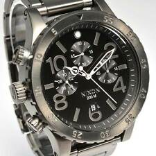 New NIXON Watch Mens 48-20 CHRONO All Gunmetal A486-632 A486632