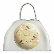 The Birds and the Bees Pattern White Metal Cowbell Cow Bell Instrument