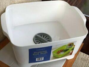 KITCHEN SINK DISH WASHING BOWL DRAIN PLUG CARAVAN WASH & DRAIN WASHING UP BOWL