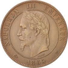 [#14467] Second Empire, 10 Centimes Napoléon III tête laurée 1864 Strasbourg