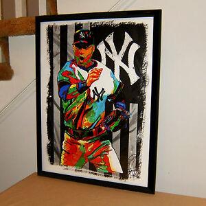 Derek Jeter New York Yankees Baseball Sports Poster Print Wall Art 18x24