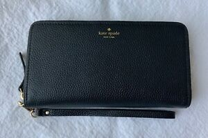 Kate Spade Brigitta Mulberry Street Black Leather Wallet Wristlet NWT