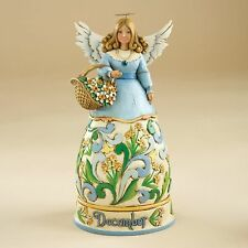 Jim Shore Birthstone & Flower Of The Month Angels-December