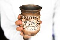 No handle mug Floral gift Pottery mug Ceramic mug Coffee mug Mate mug Tea cup Ru