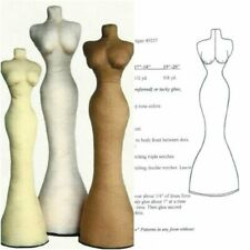 """Sewing Pattern To Make fashion Doll Dress Forms 5 different sizes 11"""" to 20"""""""