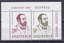 Albania 2000 2734-35 centenario morte di Mayer  Mnh