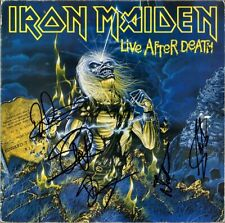 IRON MAIDEN Live After Death, FULLY SIGNED Vinyl LP Bruce Dickinson +4 AUTOGRAPH