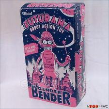 "Futurama  Gender Bender 8"" Tin Wind-Up Robot - used complete worn box"