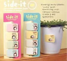 Set of 4: Cute Girl POst-it Memo paper Cute Girl / adhesive and removable
