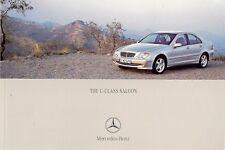 Mercedes-Benz C-Class Saloon 2002-04 UK Brochure 180K 200K 240 320 220 270 CDi