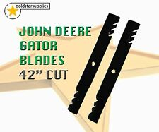 "OREGON Gator mower blades to suit JOHN DEERE 42"" deck (7 point star) very tough"