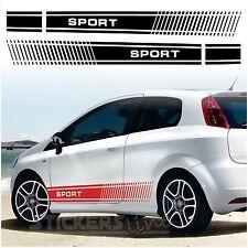 Adesivi FIAT PUNTO SPORT fasce adesive FIAT Grande Punto sport SPATOLA OMAGGIO
