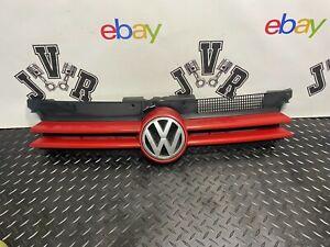 98-04 VW Volkswagen Mk4 Golf Front Radiator Grill Red 1J0853651H GENUINE