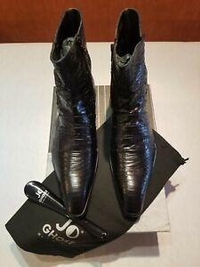 BNIB Jo Ghost Black Croc and Python Print Boots in Size EU 44 / UK 10 RRP: £459