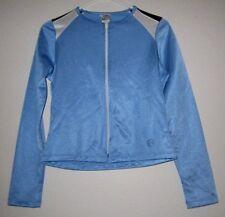AARON CHANG Aqua Blue Inner Fleece Sport Running Fitness Athletic Jacket Woman M