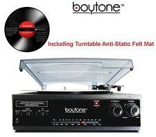 Boytone BT-13B Record Player Turntable Bluetooth 3 Speed Stereo AM/FM Radio NEW