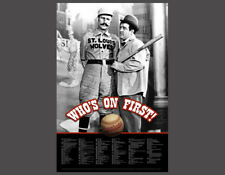 Abbott and Costello WHO'S ON FIRST? Baseball Comedy Routine Official POSTER