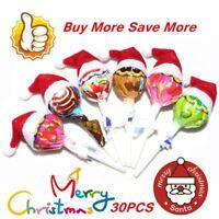 30Pcs Mini Santa Claus Hat Christmas Party Xmas DecorHoliday Lollipop Top Hot