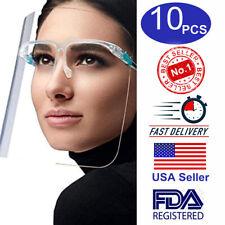 10 Complete Sets Face Shield Glasses Protector Spray Prevention Helmet USA