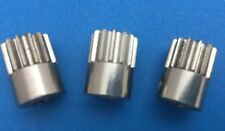 3-Pack Novak #5153 32-Pitch 13T 5mm Bore Nickel Plated Steel Pinion Gears