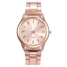 1pcs Fashion Geneva Ladies Women Girl Unisex Stainless Steel Quartz Wrist Watch
