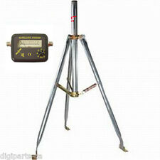 "3FT 3 FEET FOOT satellite antenna tripod with 1.66"" mast and satellite finder"