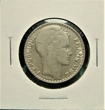 1933 10 Francs - Silver - Better Grade- Tougher Date