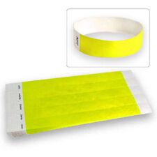 "3/4"" Tyvek Wristbands Neon Yellow-100 Count"