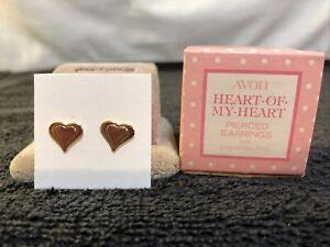 VTG 1978 Avon Childs Heart Of My Heart Earrings W Surgical Steel Posts NIB!