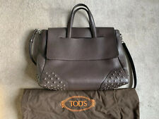 New Tod's Mens Brown Leather Envelope Bag