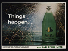1966 OLD SPICE Lime Cologne for Men - Fireworks Happen - VINTAGE ADVERTISEMENT