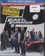 Fast & Furious 6 Walmart Blu-ray DVD SteelBook SEALED SHIPPED IN BOX