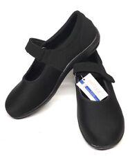 NEW Sz. AETREX Berries Black Strap Shoes Dri-lex