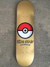 """GANCIO UPS JK industrie POKEBALL GOLD 8 """"skate skateboard NUOVO RARO POKEMON"""