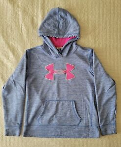 Under Armour Storm Youth Medium Pullover Hoodie Pink and Blue