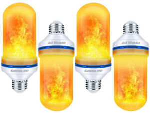 CPPSLEE Led Flame Effect Bulb 4 pack fire light DJ party FX decoration 4 mode