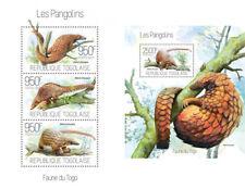 Pangolins Pangoline Animals Fauna Togo MNH stamp set
