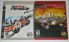 PS3 Game Lot - Burnout Paradise (Used) Need for Speed Undercover (Used)