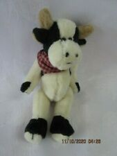 """Vtg. Boyd's Bear Mini Rare Jointed Cow,T F Wuzzies 1997 2000 5"""", 595105-0, EX"""