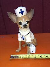 PUNCH STUDIO CHIHUAHUA NURSE/DOCTOR DOG STATUE With Lots of Detail