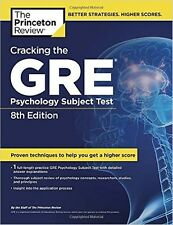CRACKING THE GRE PSYCHOLOGY SUBJECT TEST(Princeton Review:) PAPERBACK  NEW