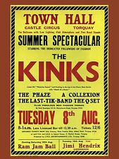 "The Kinks Torquay 16"" x 12"" Photo Repro Concert Poster no 2"