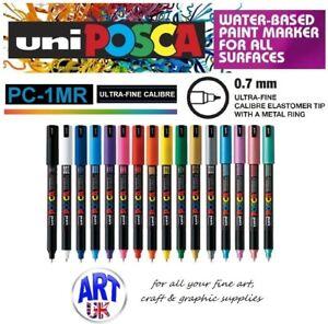Posca PC-1MR Ultra Fine Paint Marker Art Pens Fabric Glass Metal Stone Porcelain