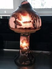 """Vintage Lamp Signed LORRAIN Gorgeous 19"""" Tall Art Nouveau"""